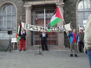 Samstöðufundur með Palestínumönnum á Lækjartorgi 2010
